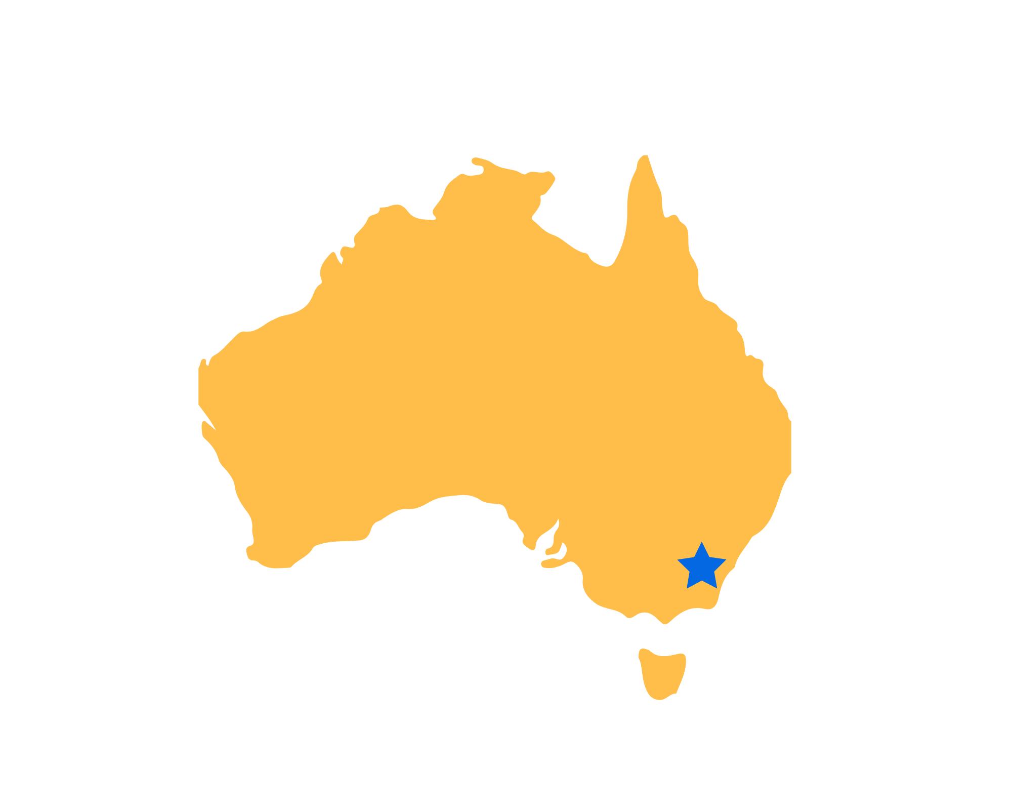 Karte Canberra