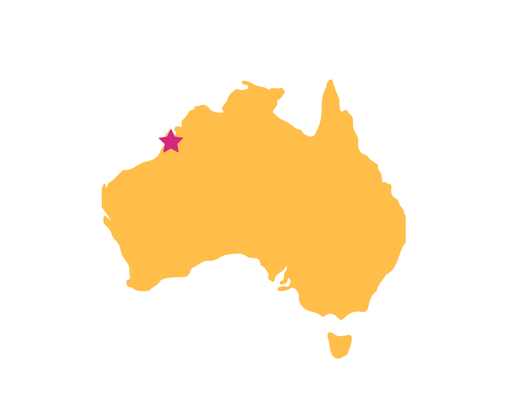 Karte Broome