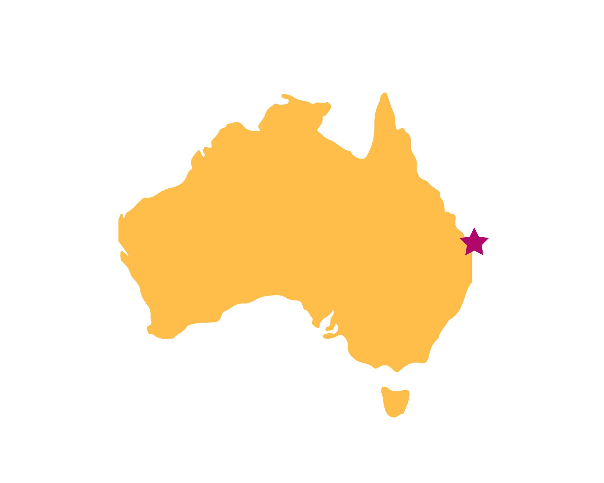 Karte Fraser Island