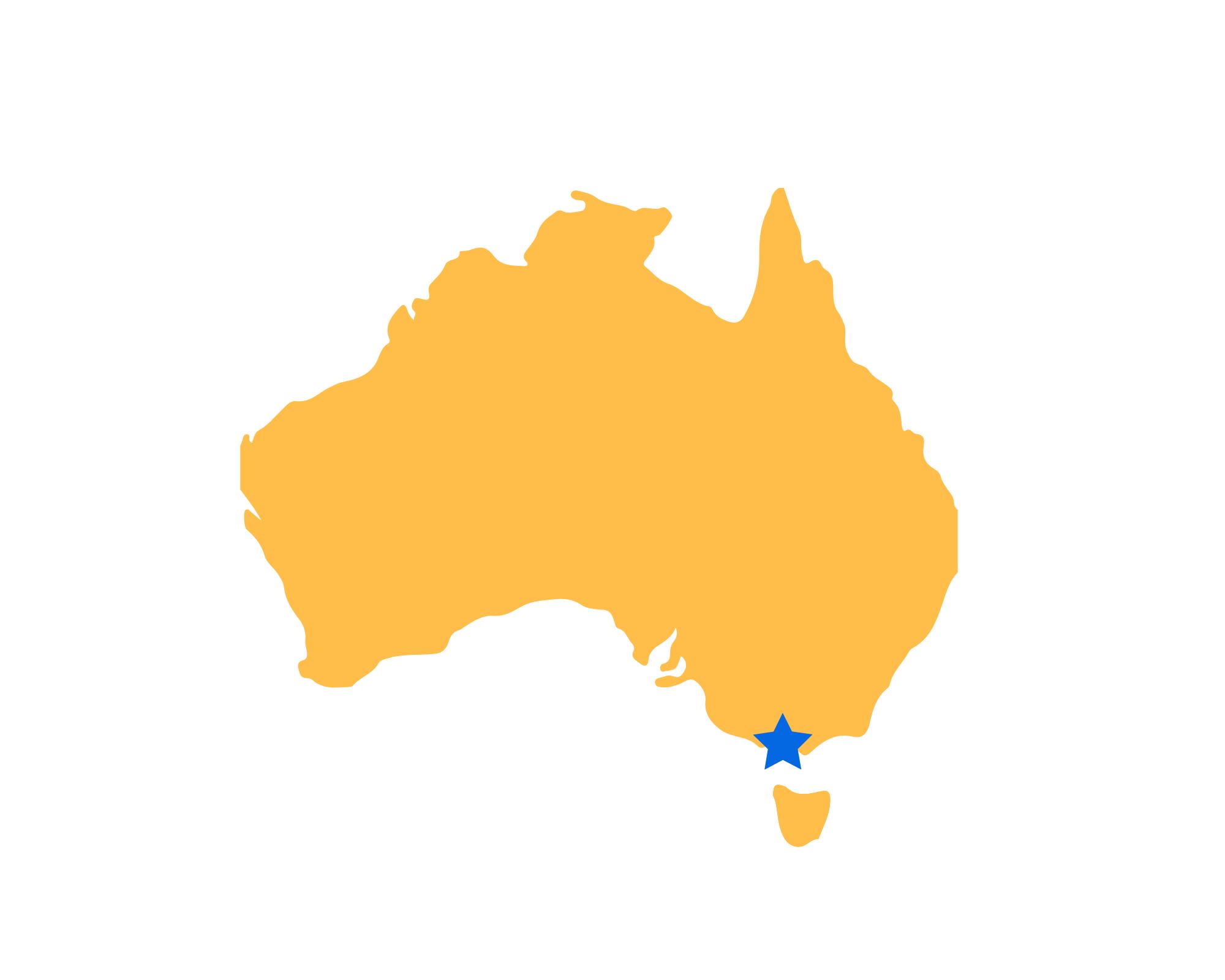 Karte Melbourne