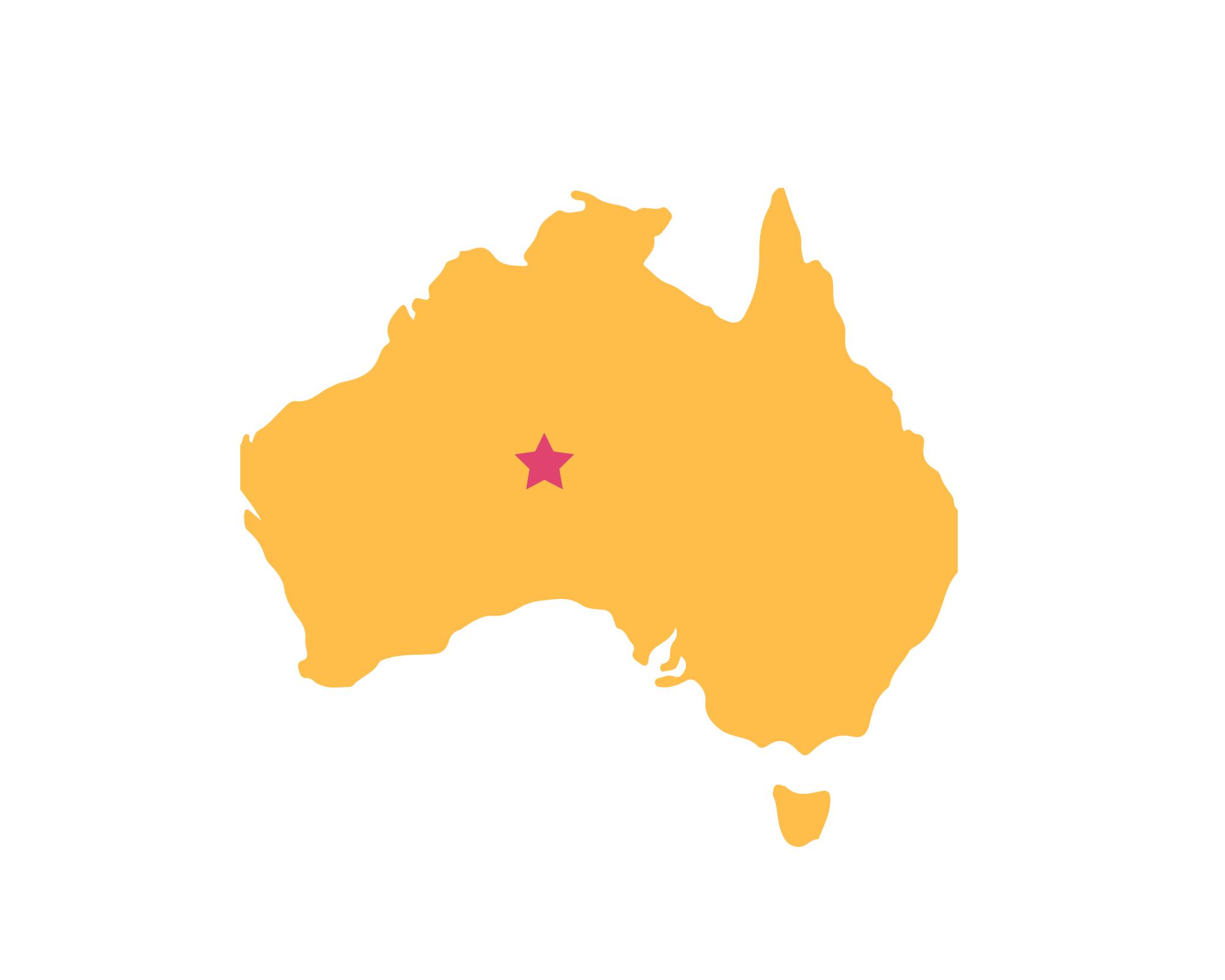 Karte Uluru - Kata-Tjuta