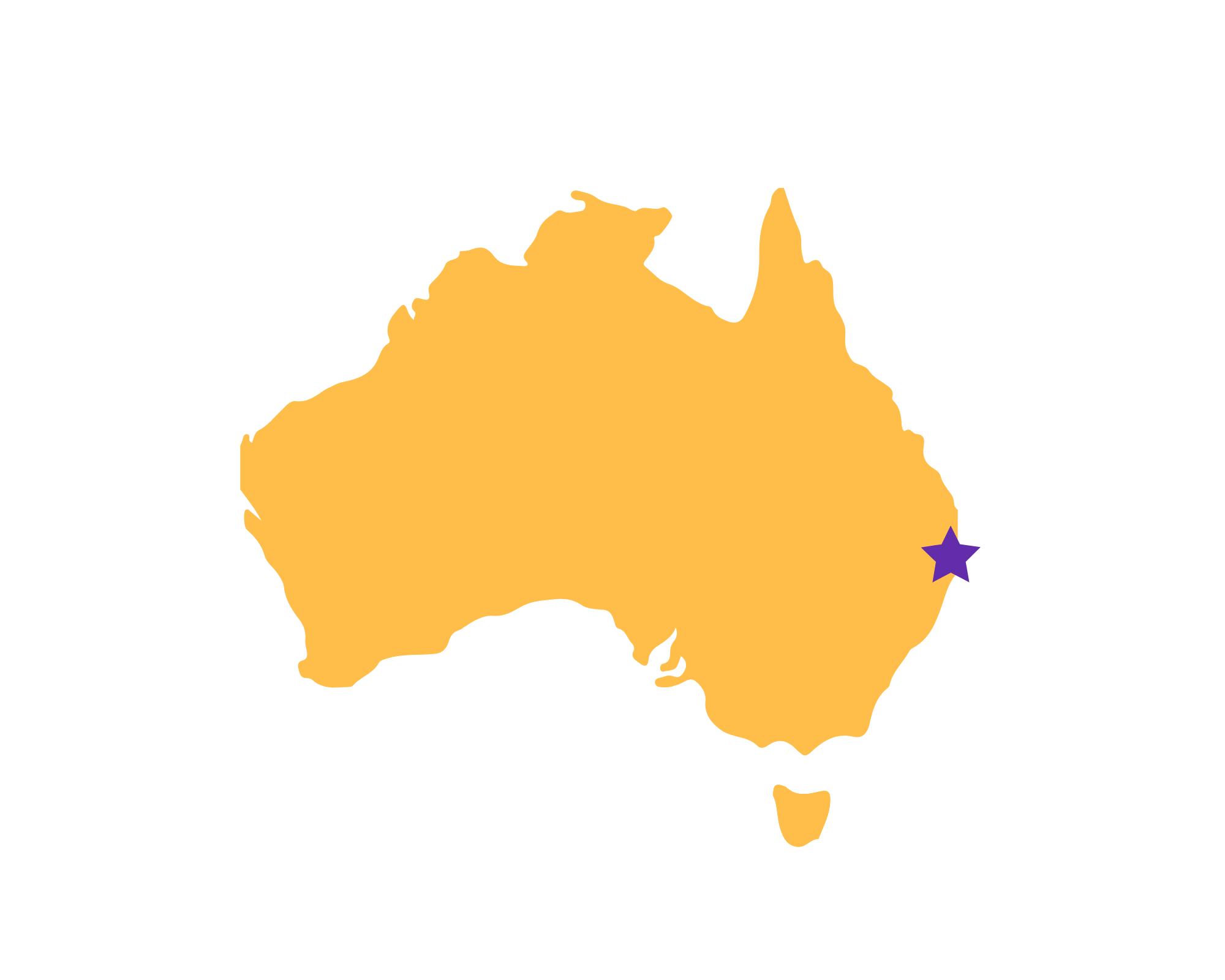 Karte Byron Bay