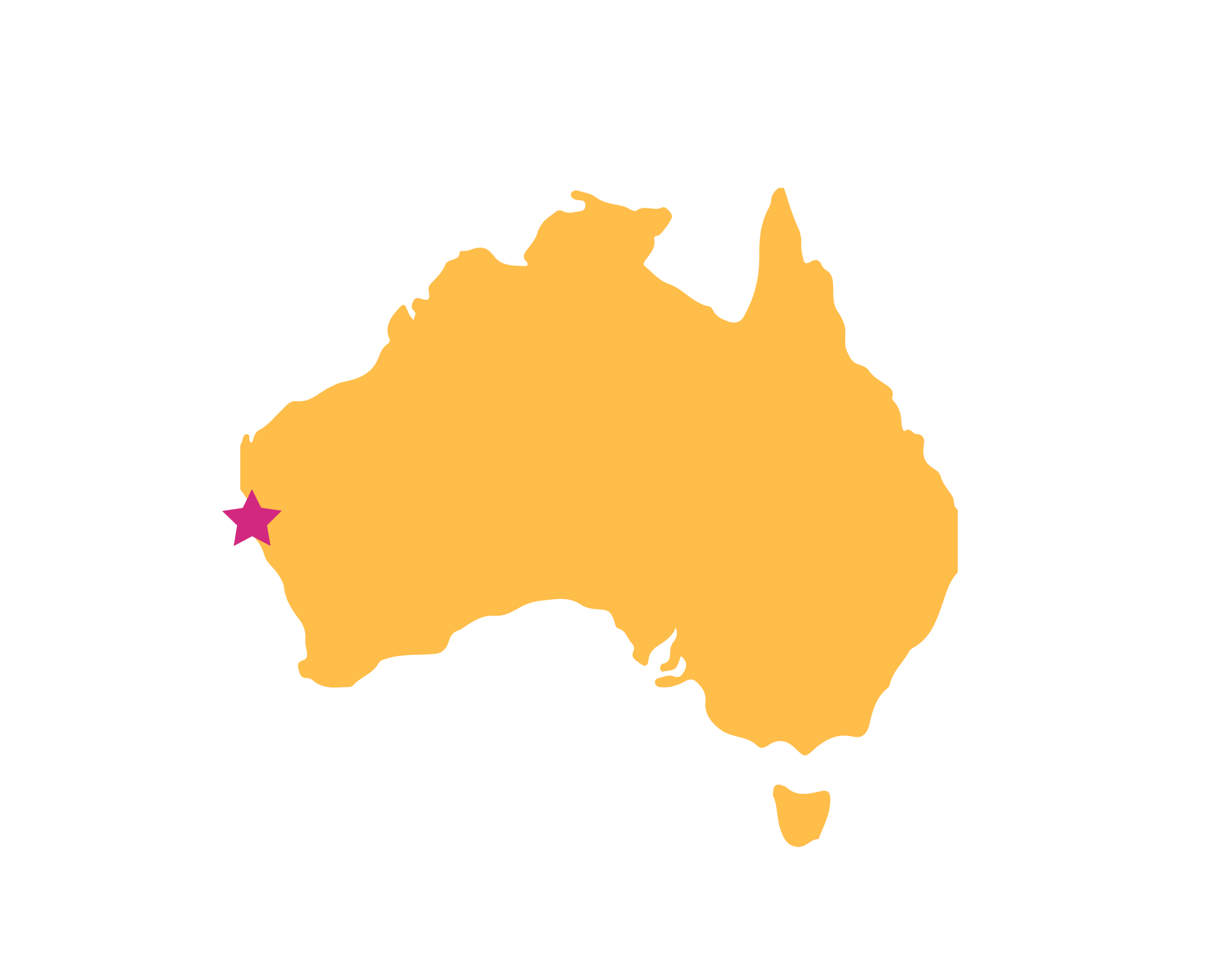 Karte Shark Bay