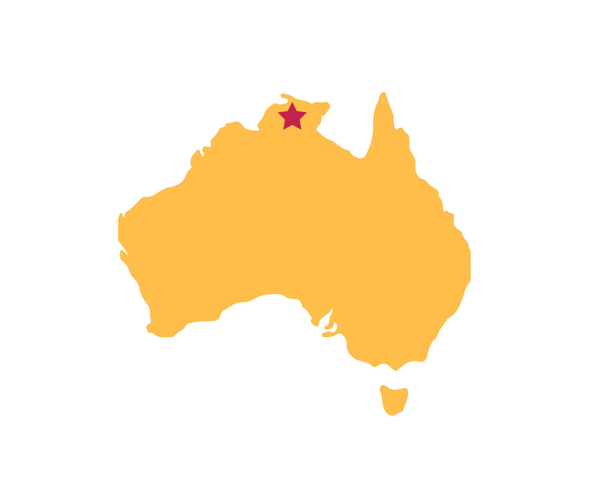 Karte Kakadu National Park