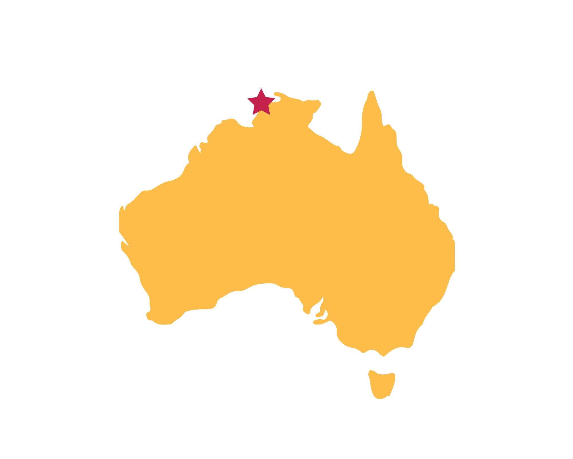 Karte Darwin