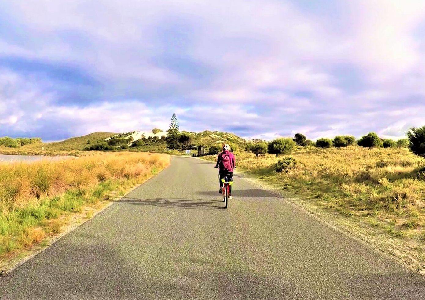 Fahrrad fahren auf Rottnest Island in Australien