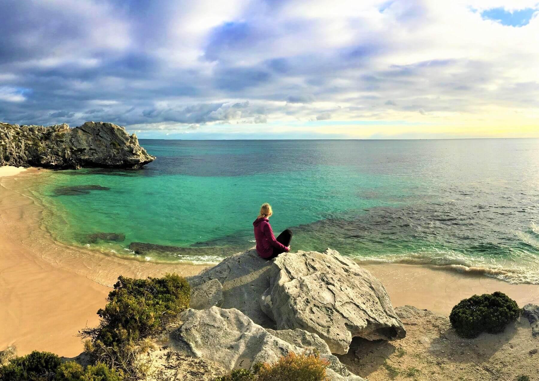 Highlights auf Rottnest Island - Bucht