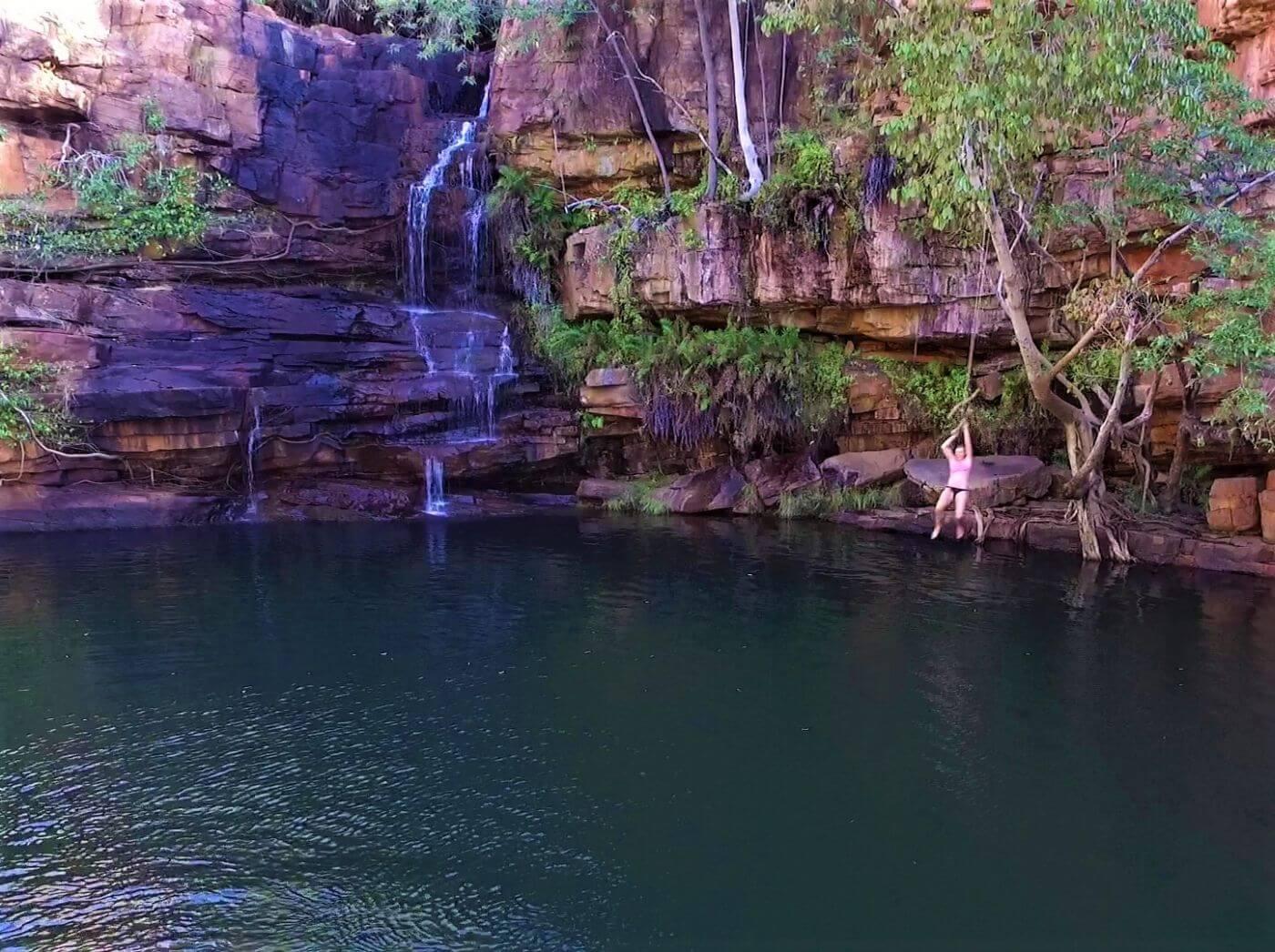 Wasserfall der Galvans Gorge auf der Gibb River Road