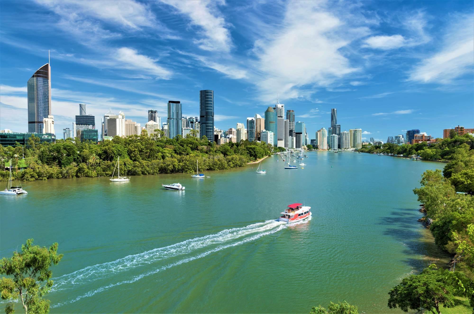 Blick auf Brisbane in Australien