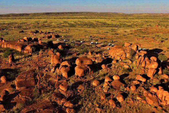 Felsformation Devils Marbles in Australien