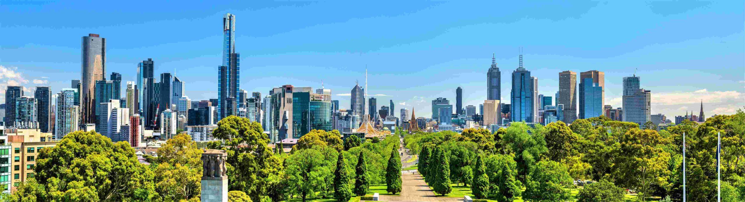 Panorama von Melbourne in Australien