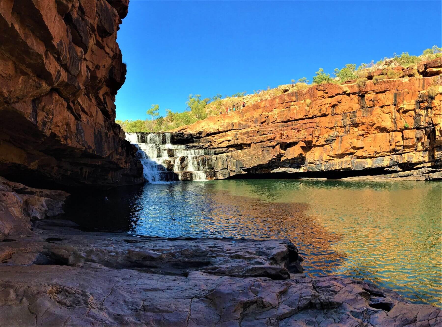 Der Bell Gorge Wasserfall auf der Gibb River Road in Australien