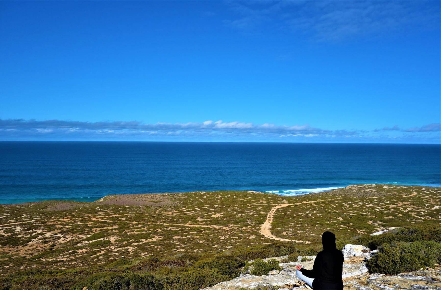 Blick auf die Nullarbor Plain in Australien