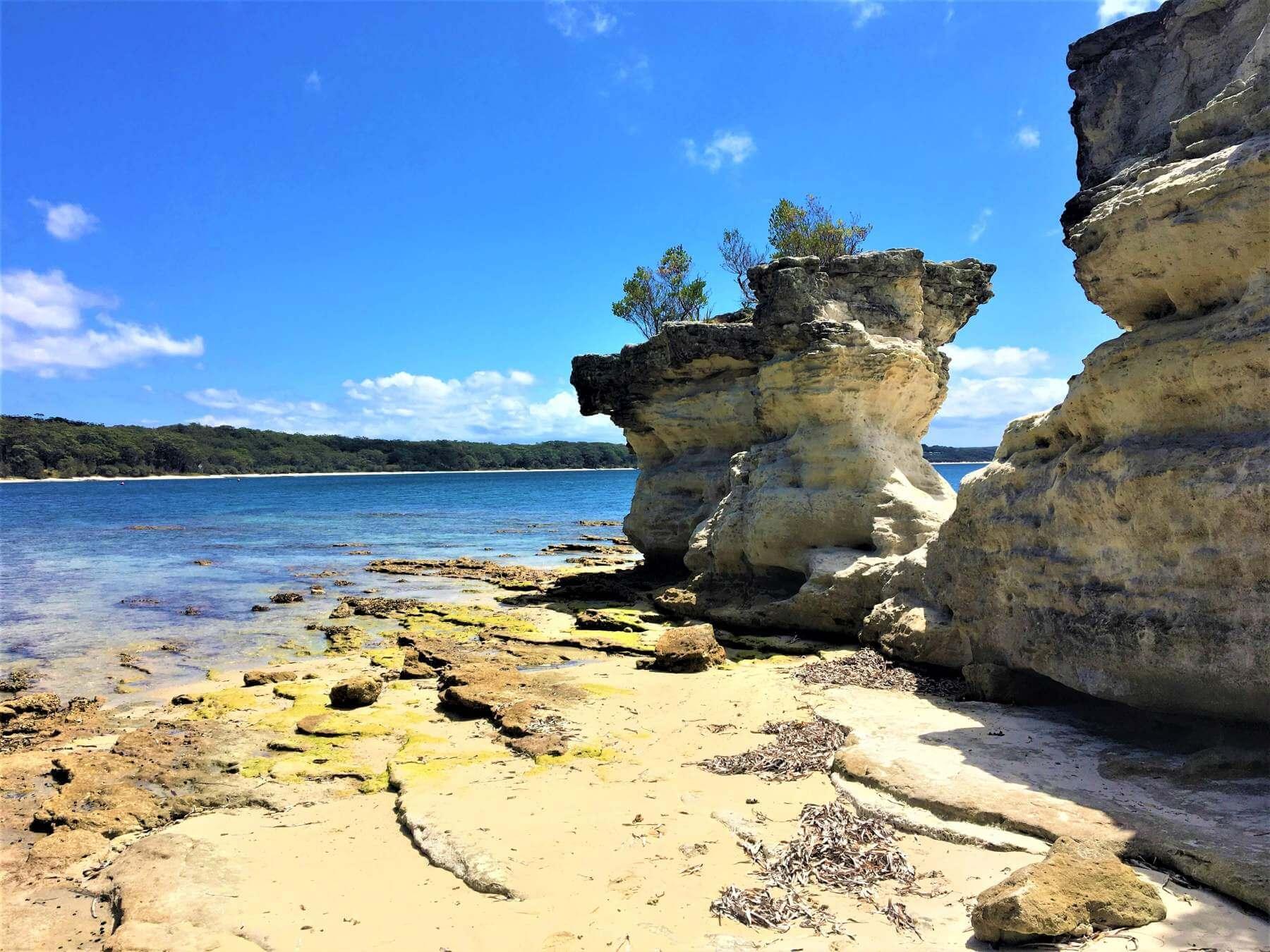 Felsen im Booderee National Park bei Jervis Bay