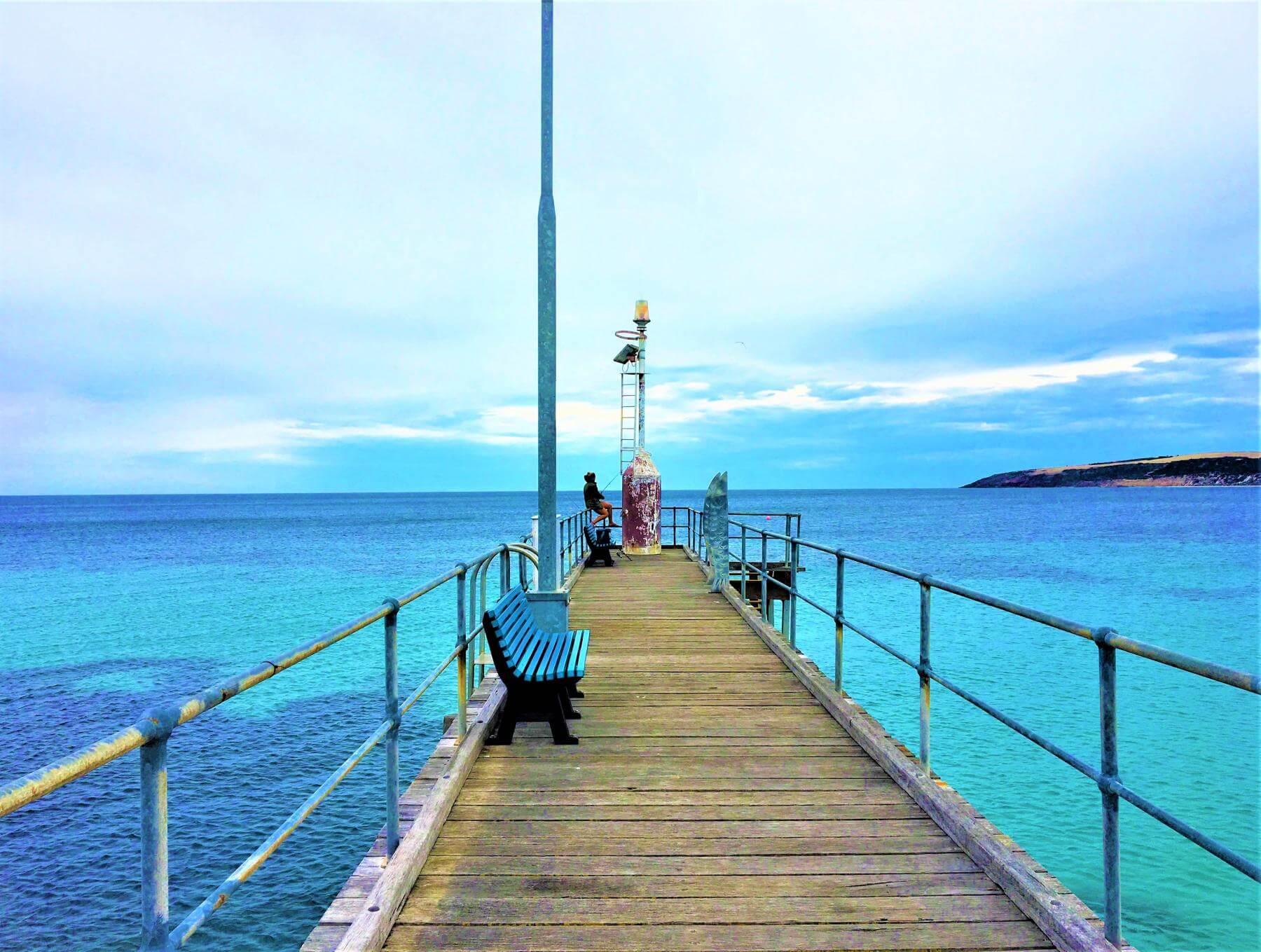 Bucht auf Känguru Insel inAustralien