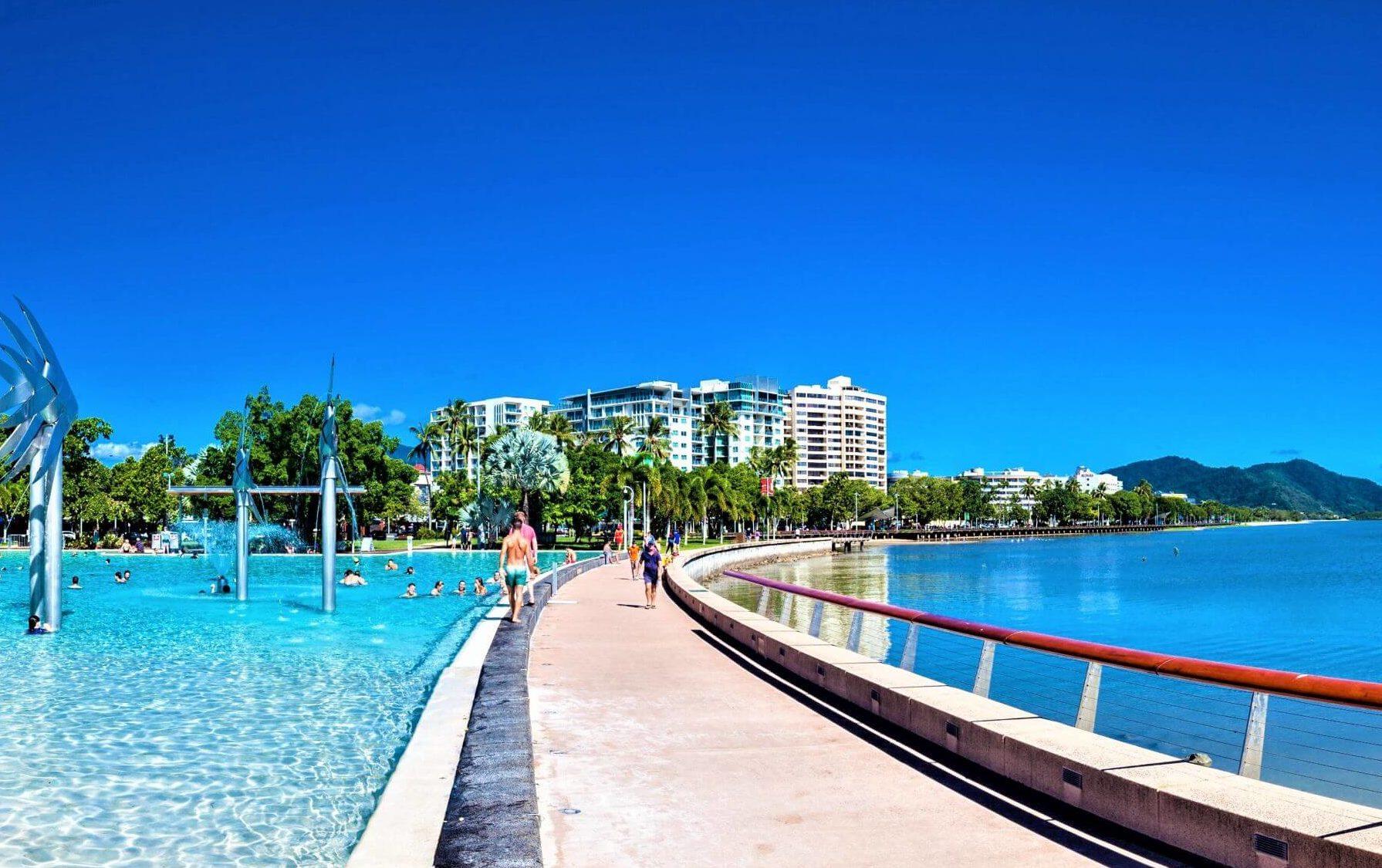 Cairns in Australien - Promenade