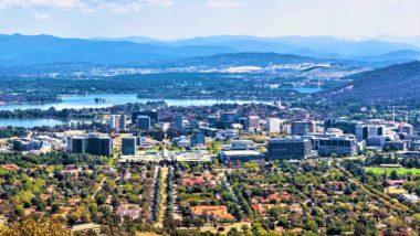 Blick auf Canberra in Australien