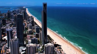 Blick vom Q1 Tower der Gold Coast in Australien