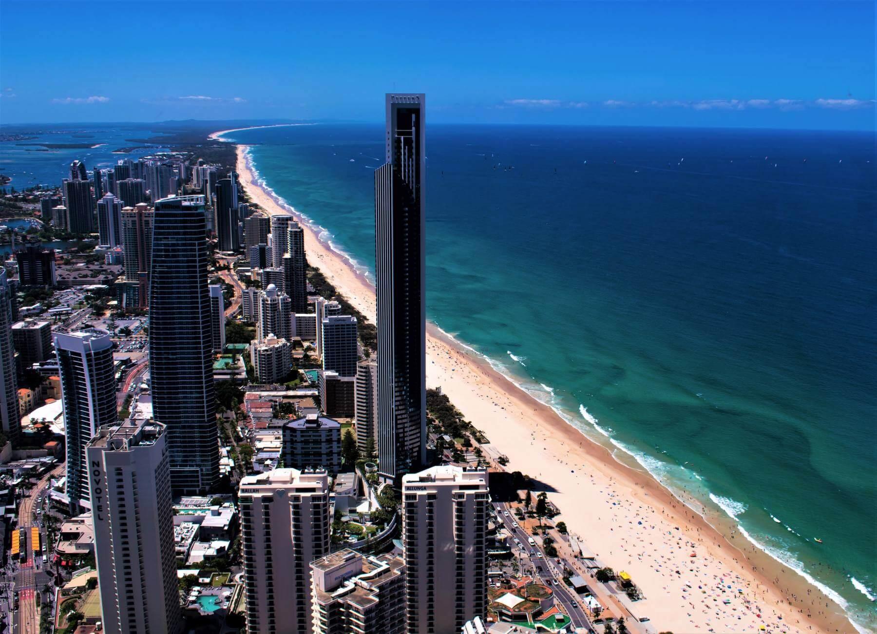 Blick vom Q1 Tower der Gold Coast in Australien