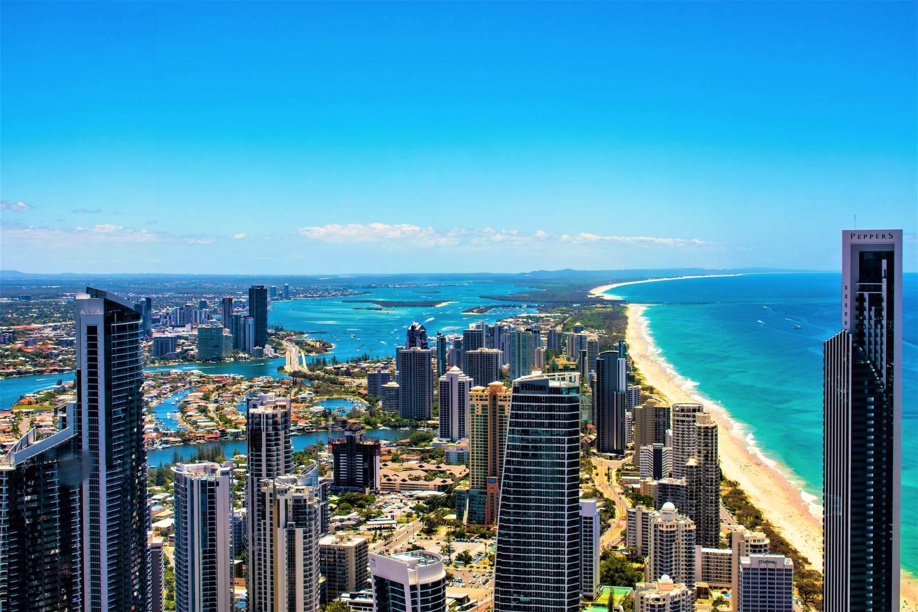 Blick auf die Gold Coast in Queensland