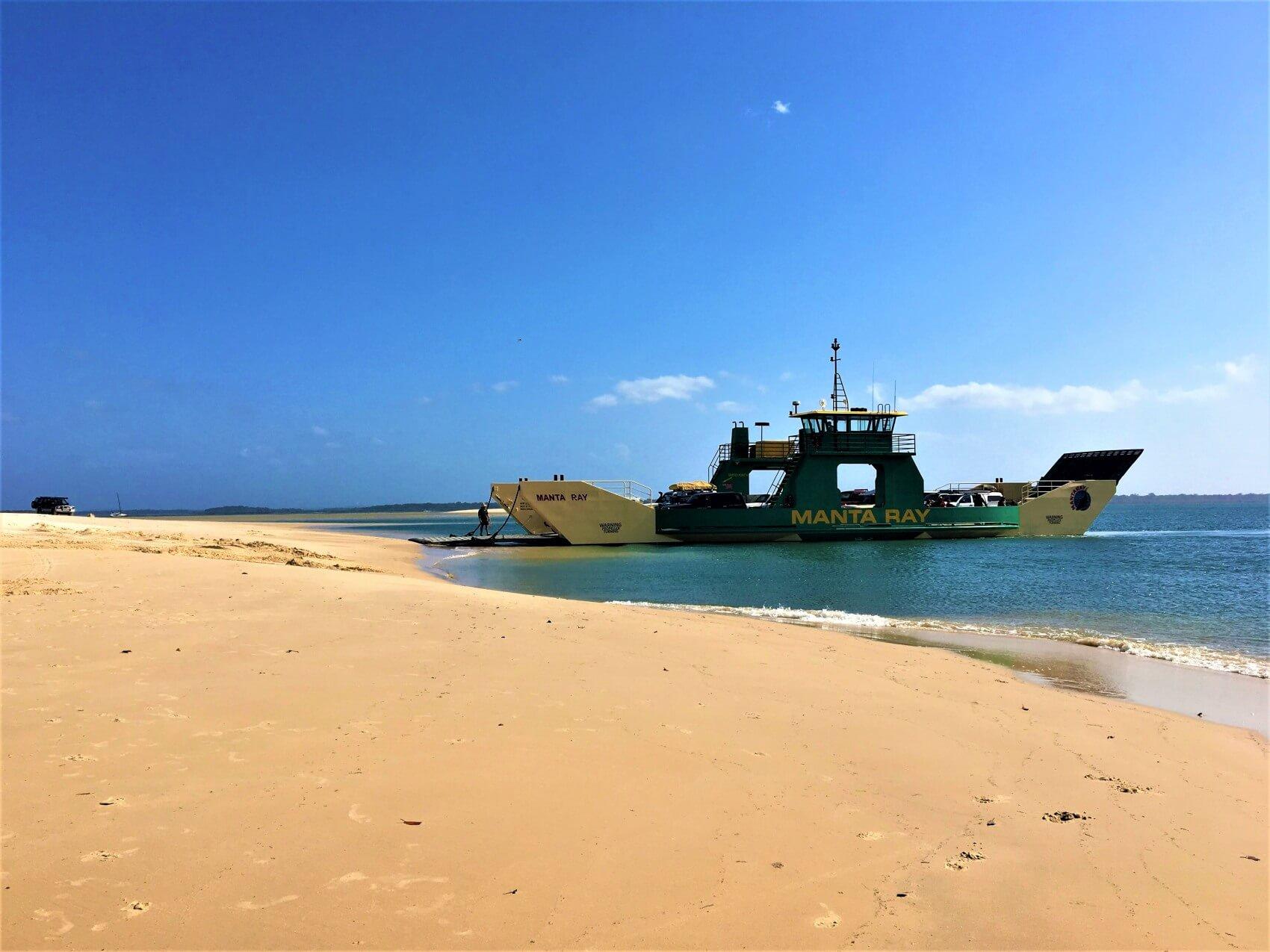 Fähre nach Fraser Island am Inskip Point