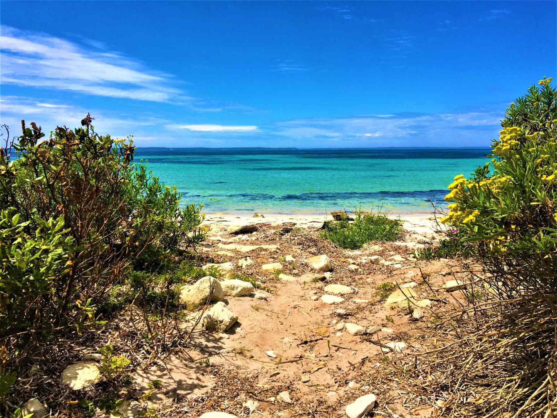 Strand auf Kangaroo Island in Südaustralien