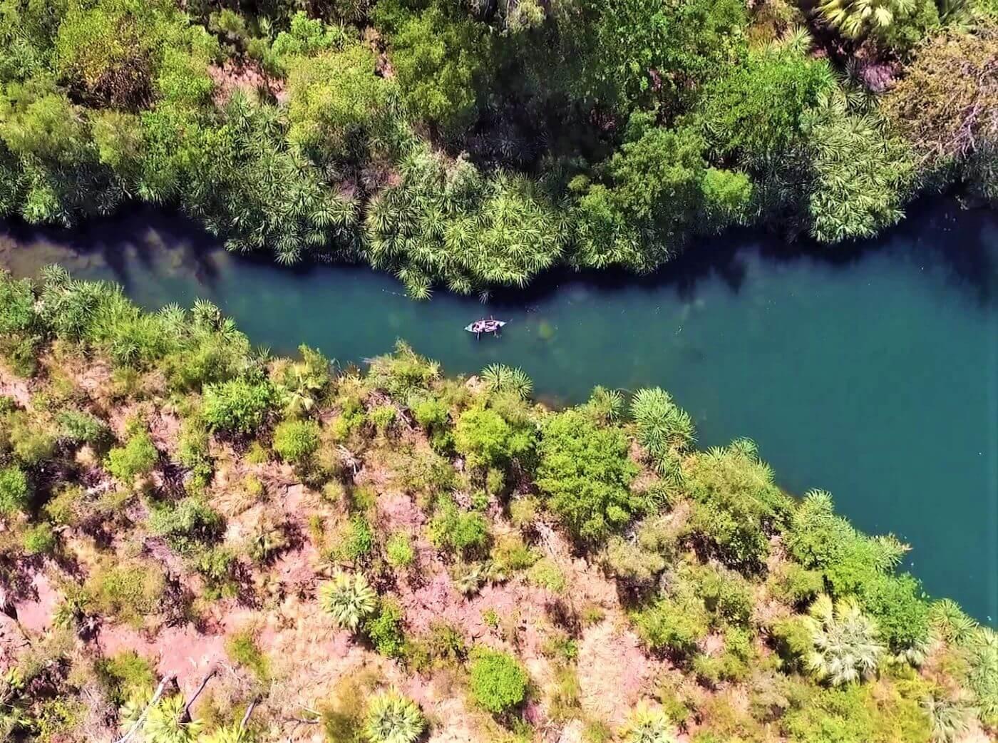 Kanu fahren im Bodjamulla National Park