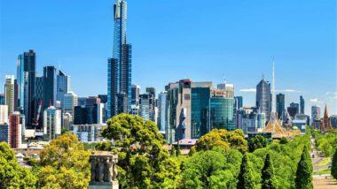 Blick auf Melbourne in Australien