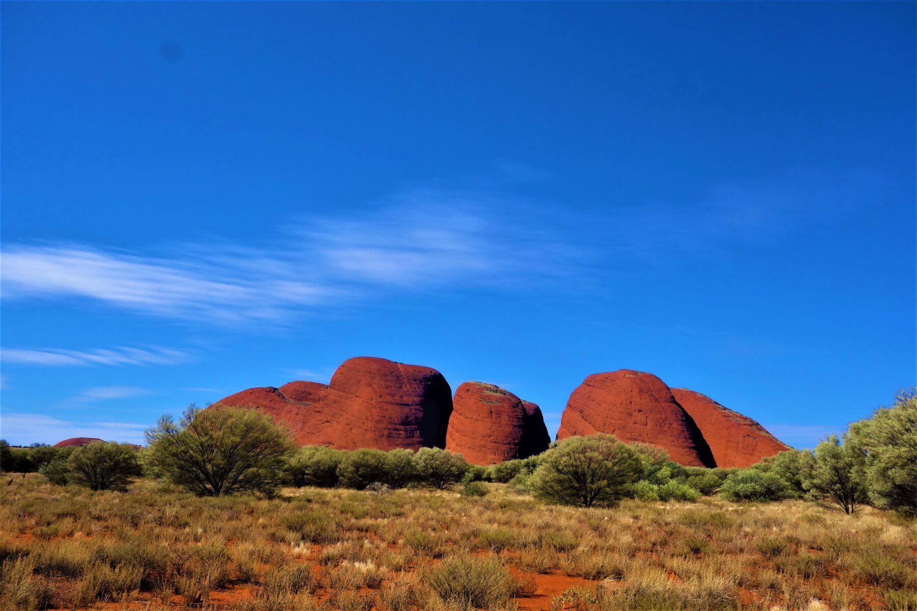 Rote Felsformation Olgas Rock im Uluru-Kata Tjuta National Park