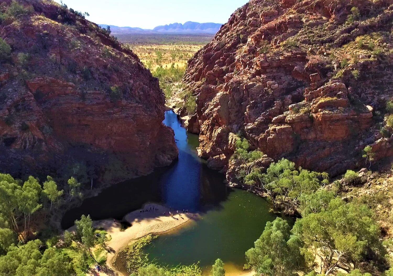 Felsenpool Ellery Creek - eine Sehenswürdigkeit bei Alice Springs