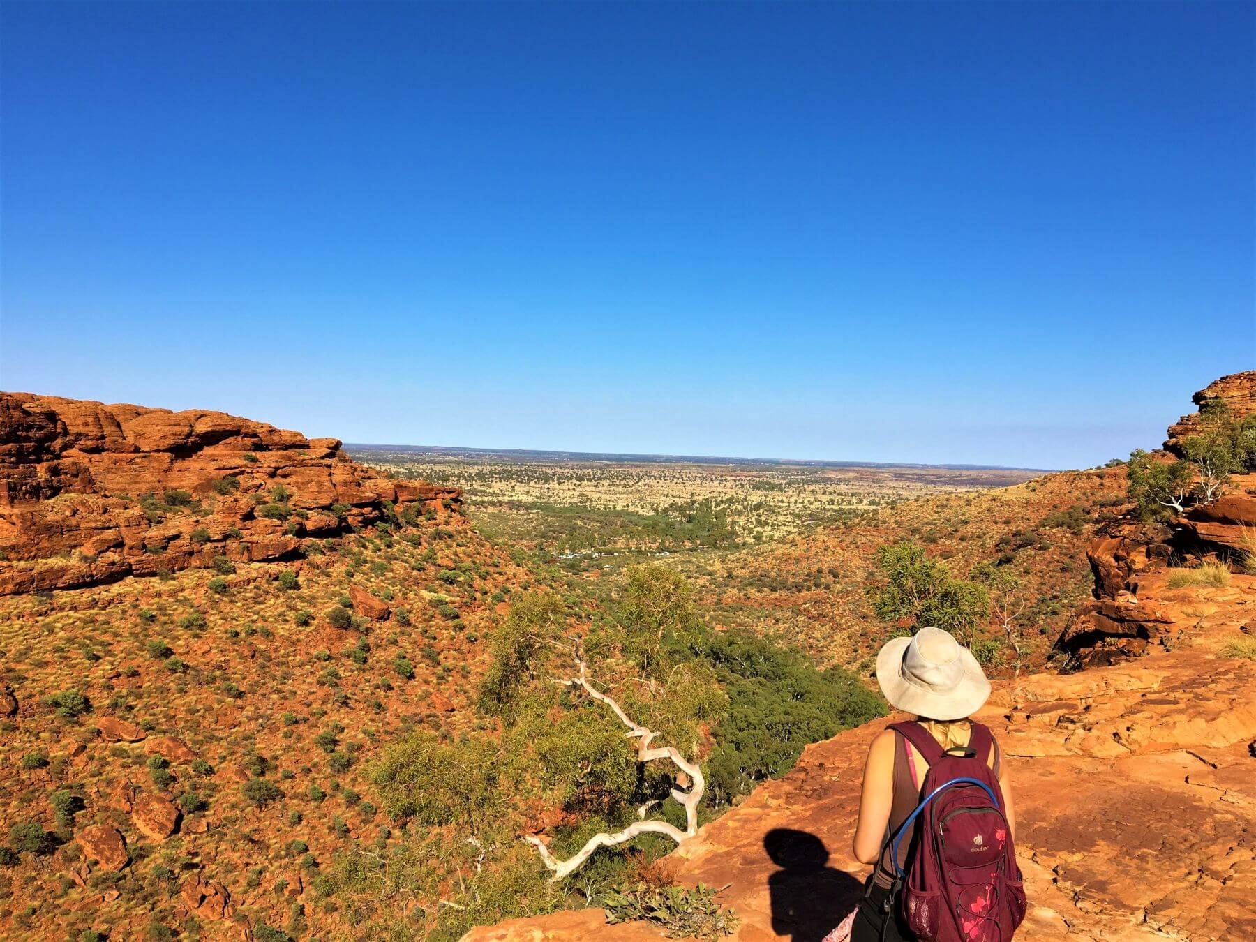 Ausblick vom Kings Canyon - Eine tolle Sehenswürdigkeit bei Alice Springs