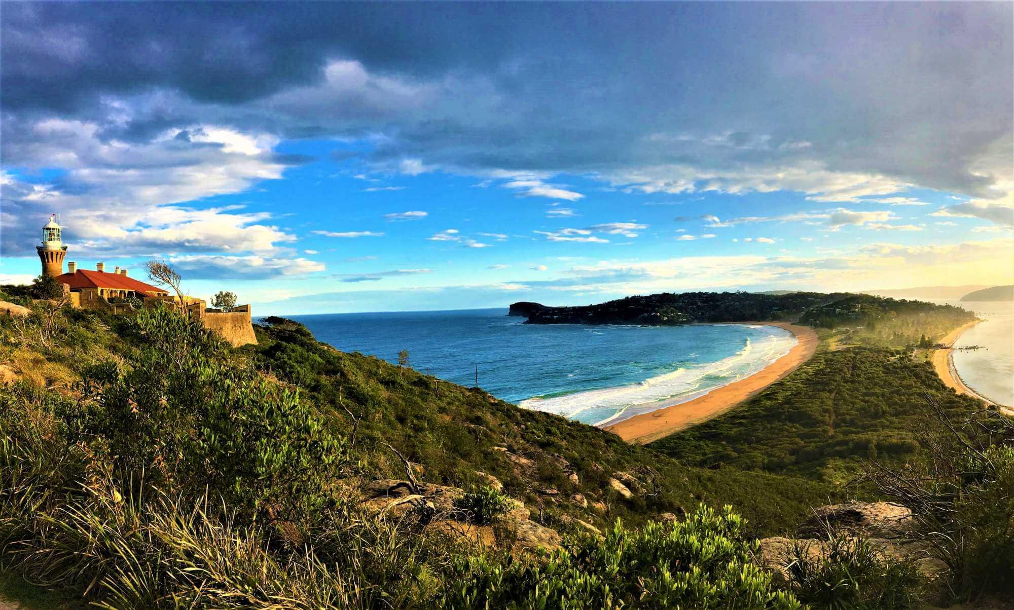 Sydney Highlights - Blick auf den Palm Beach