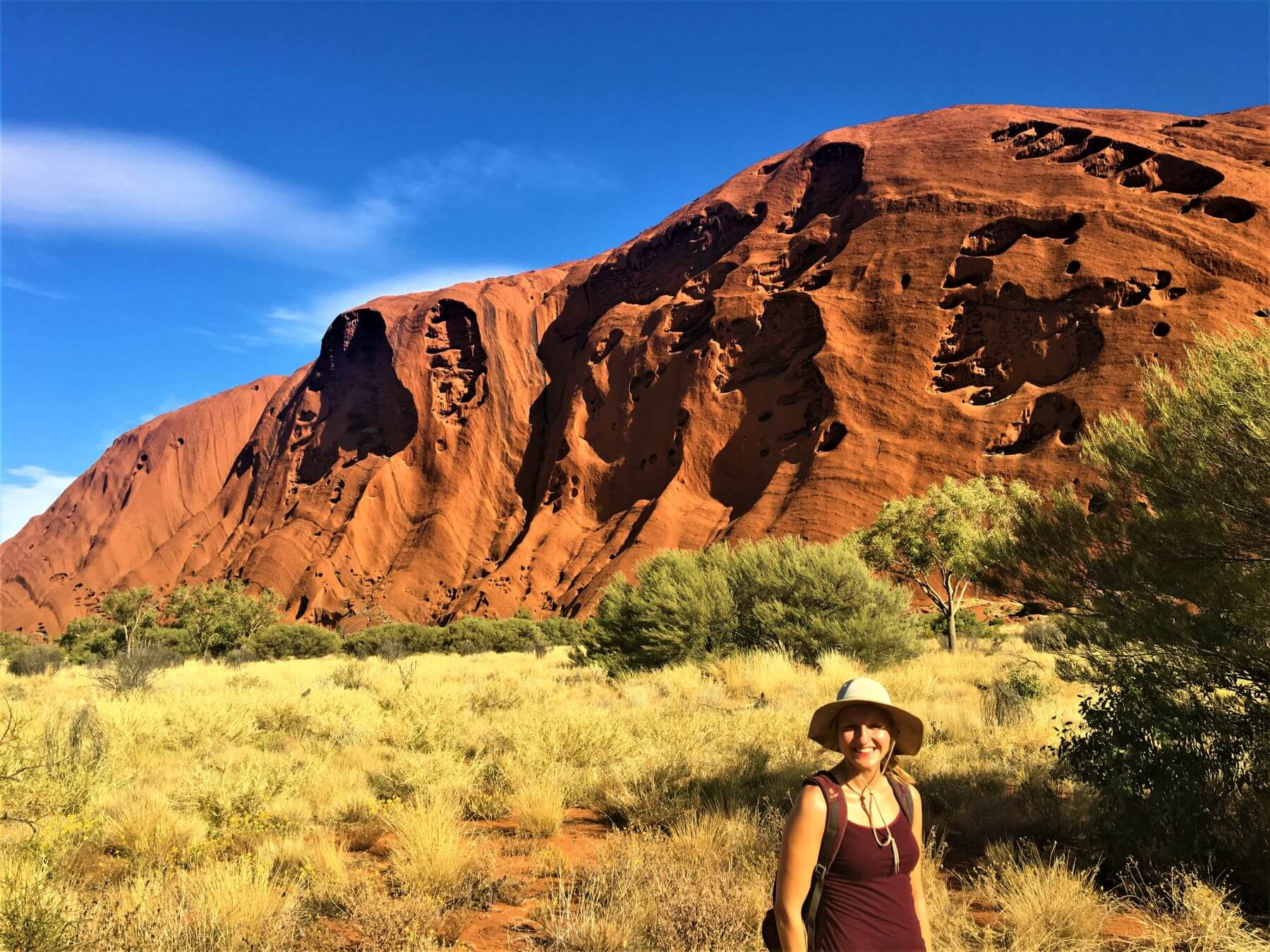 Roter Berg Uluru - Ayers Rock beim Base Walk