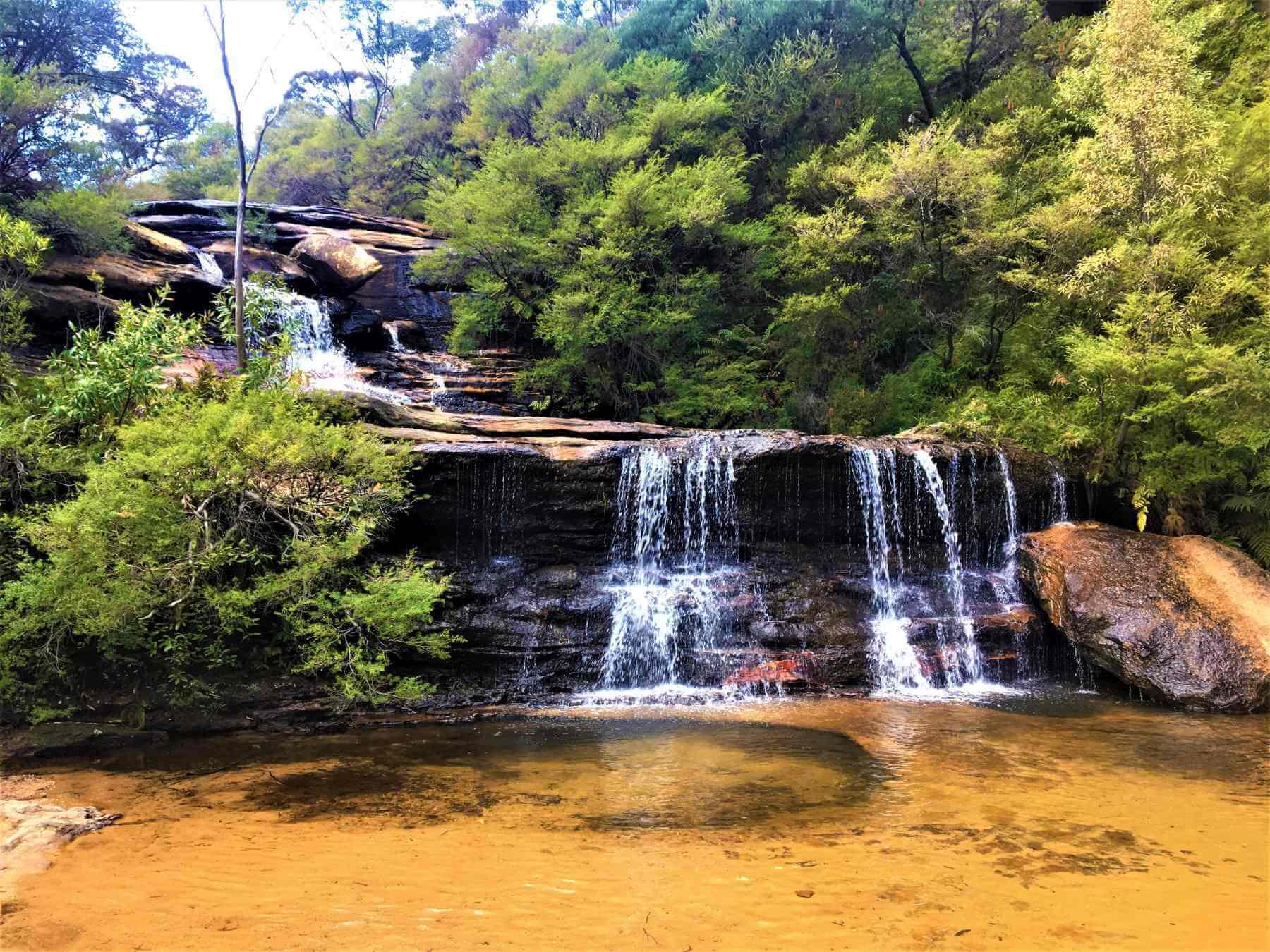 Wasserfall im Blue Mountains National Park
