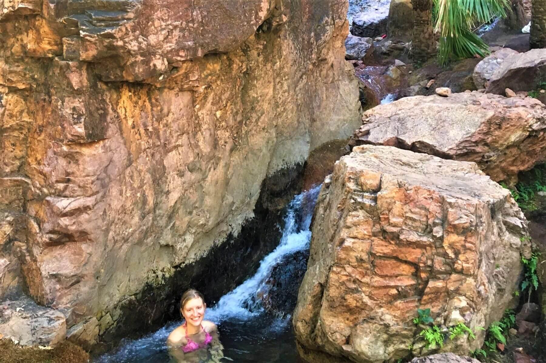 Malerische Zebedee Springs auf der Gibb River Road in Australien