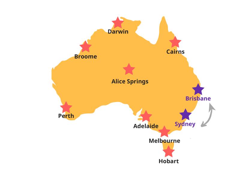 Reiserouten Australien Ostküste
