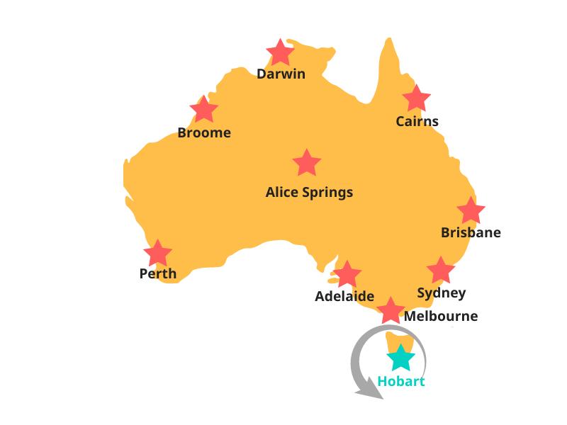 Tasmanien - Routen